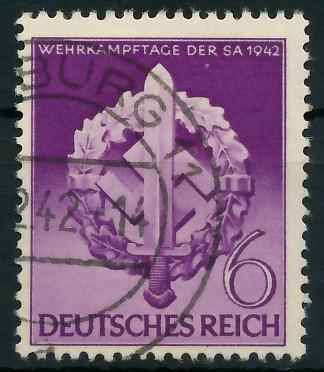 DEUTSCHES REICH 1942 Nr 818 gestempelt 87C536