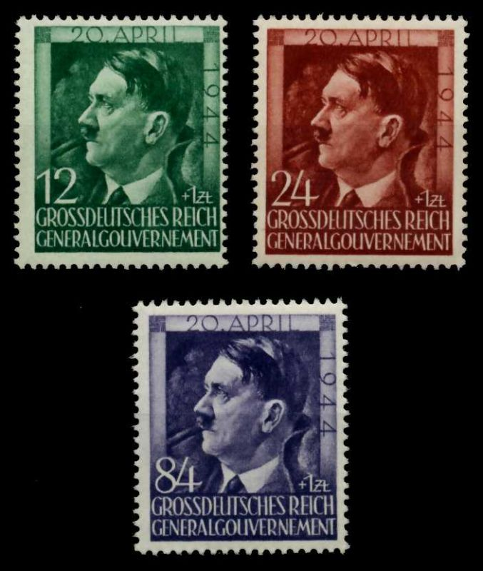 GENERALGOUVERNEMENT 1944 Nr 117-119 postfrisch S806CFE