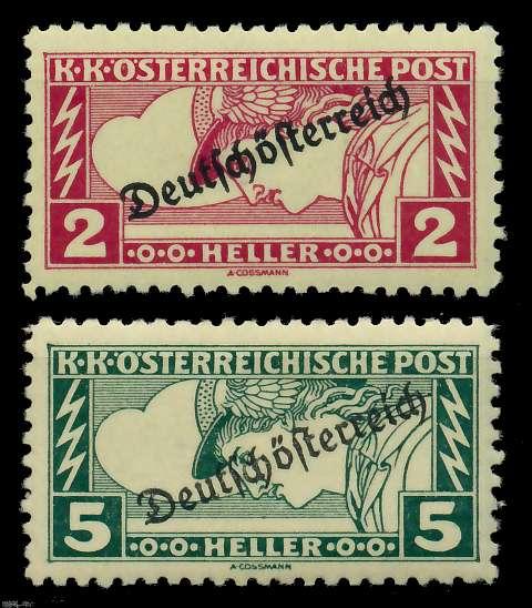 ÖSTERREICH 1919 Nr 252B-253B ungebraucht 7A848E