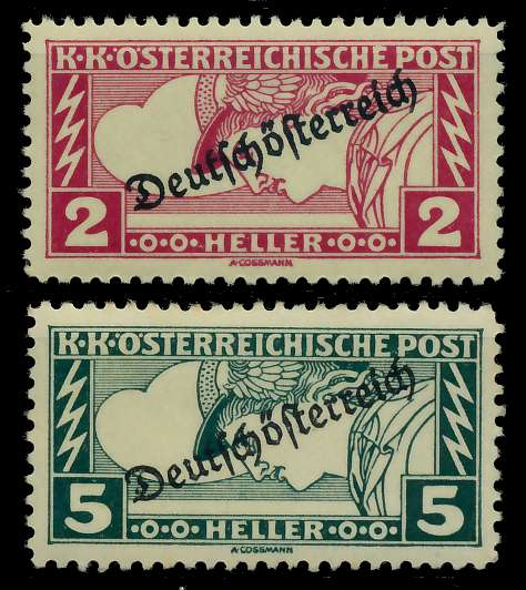 ÖSTERREICH 1919 Nr 252A-253A postfrisch 7A849A
