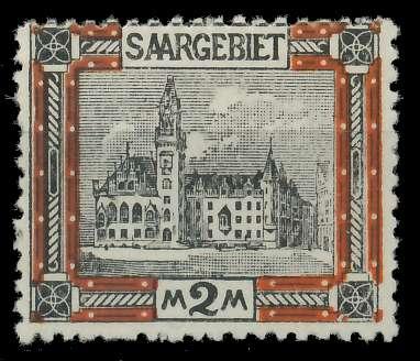 SAAR LANDSCHAFTEN Nr 65A ungebraucht 8804D6