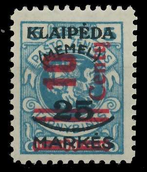 MEMEL 1923 Nr 230III ungebraucht 881F6A