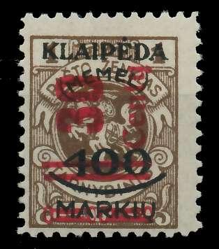 MEMEL 1923 Nr 232I ungebraucht 881F6E