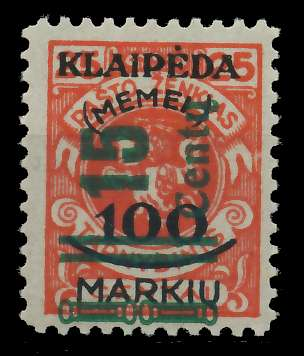 MEMEL 1923 Nr 231I ungebraucht 881F72