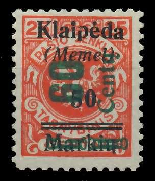 MEMEL 1923 Nr 233I ungebraucht 881F76