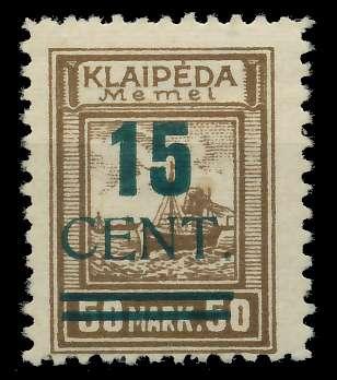 MEMEL 1923 Nr 234I ungebraucht gepr. 881F7E