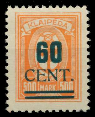 MEMEL 1923 Nr 237I ungebraucht gepr. 881F82