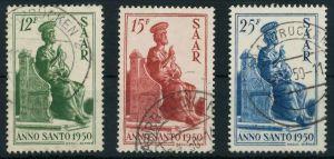 SAARLAND 1950 Nr 293-295 gestempelt 8845A6
