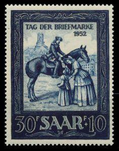 SAARLAND 1952 Nr 316 postfrisch 8845DE