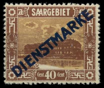 SAAR DIENSTMARKEN Nr 8I ungebraucht 886006