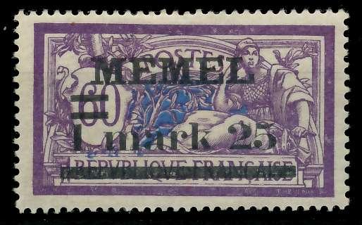 MEMEL 1920 Nr 27y ungebraucht 8863C6