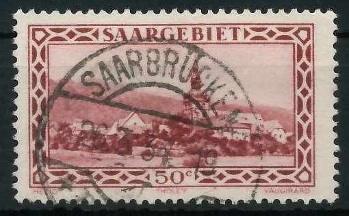 SAARGEBIET 1926 Nr 114 gestempelt 88651E