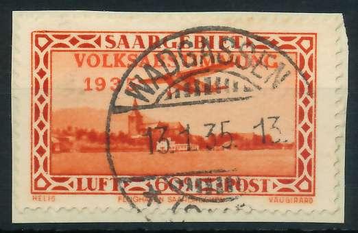 SAARGEBIET 1934 Nr 196 zentrisch gestempelt Briefst³ck 886522