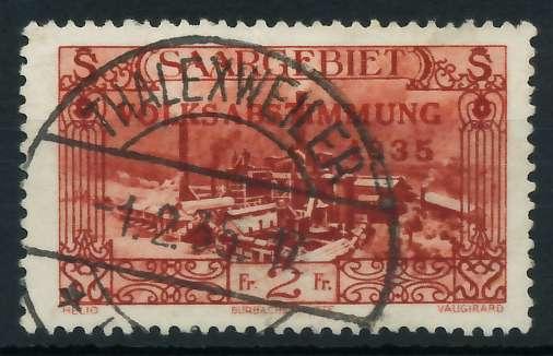 SAARGEBIET 1934 Nr 191 gestempelt 886526