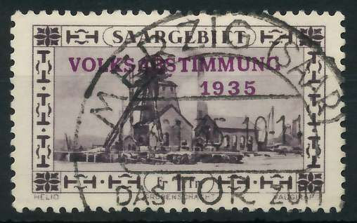 SAARGEBIET 1934 Nr 189 gestempelt 88652A