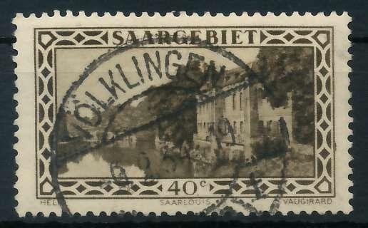 SAARGEBIET 1926 Nr 113 gestempelt 88652E