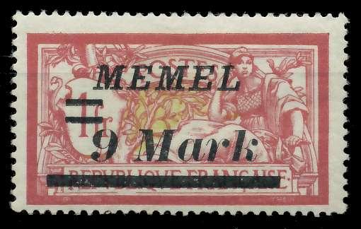MEMEL 1922 Nr 93 ungebraucht 8875FA