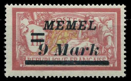 MEMEL 1922 Nr 93 ungebraucht 88760E