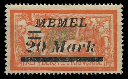 MEMEL 1922 Nr 95 ungebraucht 887612