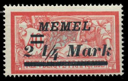 MEMEL 1922 Nr 89 ungebraucht 887626