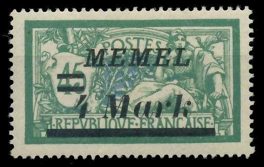 MEMEL 1922 Nr 91 ungebraucht 88762A