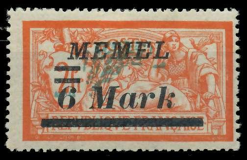 MEMEL 1922 Nr 70 ungebraucht 887632
