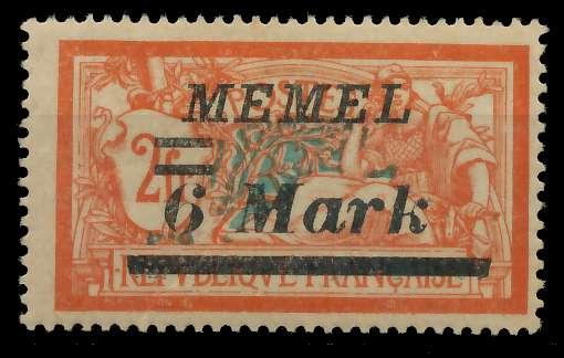 MEMEL 1922 Nr 70 ungebraucht 88763A