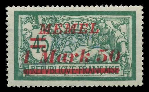 MEMEL 1922 Nr 66 ungebraucht 88764E