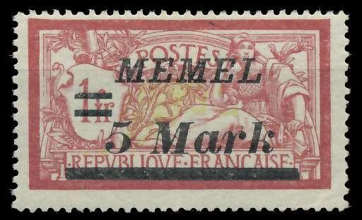 MEMEL 1922 Nr 69 ungebraucht 887666