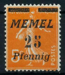 MEMEL 1922 Nr 58 ungebraucht 887676
