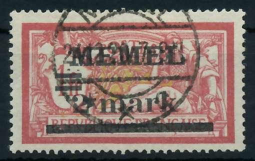MEMEL 1920 Nr 28y gestempelt gepr. 887696