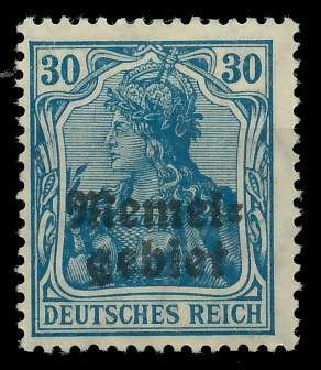MEMEL 1920 GERMANIA Nr 15 ungebraucht 8877EA