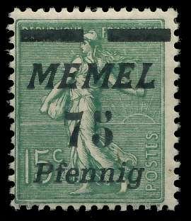 MEMEL 1922 Nr 85 ungebraucht 8877EE