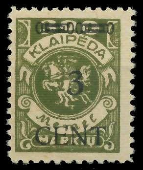 MEMEL 1923 Nr 179I postfrisch gepr. 8877F6