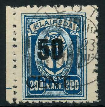 MEMEL 1923 Nr 197 gestempelt gepr. 8877FE