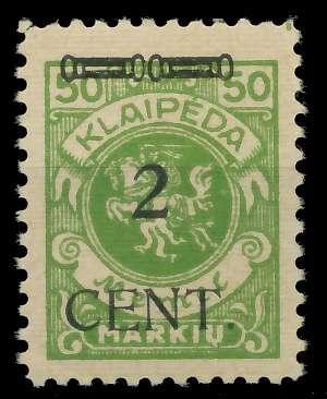 MEMEL 1923 Nr 177I ungebraucht 887802