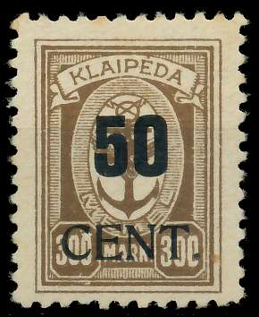 MEMEL 1923 Nr 198 ungebraucht 88780A
