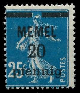 MEMEL 1920 Nr 20b postfrisch 887D92