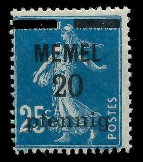 MEMEL 1920 Nr 20b postfrisch 887D9E