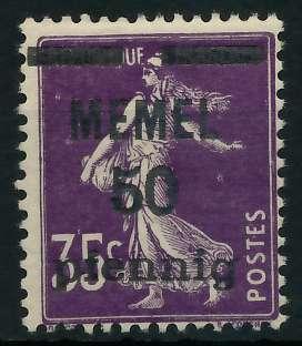 MEMEL 1920 Nr 23a postfrisch 887DA2