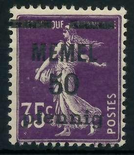 MEMEL 1920 Nr 23a postfrisch 887DAA