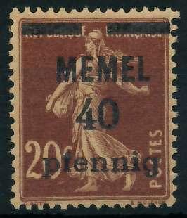 MEMEL 1920 Nr 22b postfrisch 887DAE