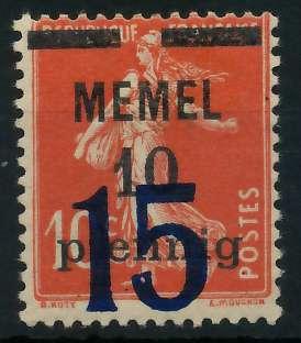 MEMEL 1921 Nr 34 postfrisch 887DB6