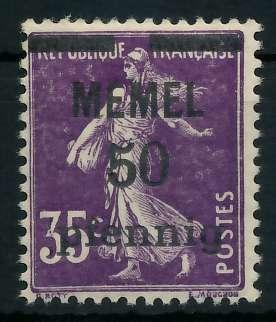 MEMEL 1920 Nr 23a postfrisch 887DBA