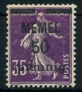 MEMEL 1920 Nr 23a postfrisch 887DBE