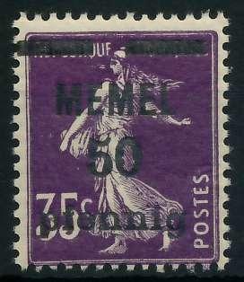 MEMEL 1920 Nr 23a postfrisch 887DC2