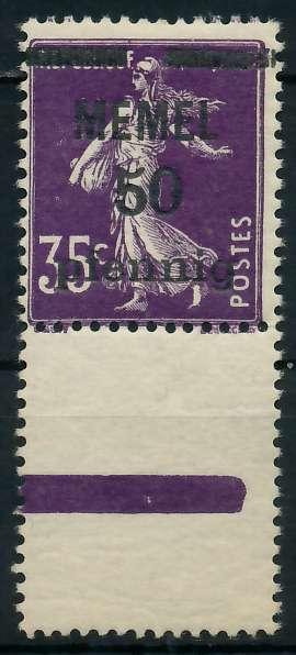 MEMEL 1920 Nr 23a postfrisch URA 887DCA