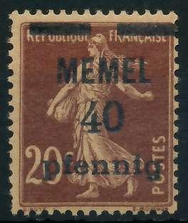 MEMEL 1920 Nr 22b postfrisch 887DCE