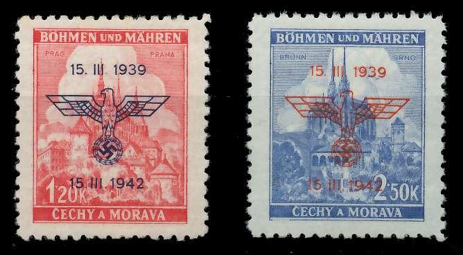 BÖHMEN MÄHREN 1942 Nr 83-84 postfrisch 887DD6