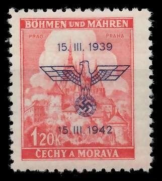 BÖHMEN MÄHREN 1942 Nr 83 postfrisch 887DDA